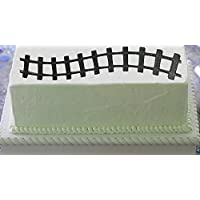 CakeSupplyShop Scenic Themed Paper Stick On / Lay On Cake Border Decoration Toppers (Train Tracks)