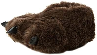 "Mens Cosy Bear Feet ""Hibernation Wear"" Fluffy Novelty Slippers - UK Size 12"