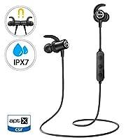 03c3ad2764e Mpow S11 Auriculares Bluetooth 5.0, Auricular aptX Deporte In Ear  Inalámbrico IPX7 Impermeable con HD Audio, Auriculares Deportivos  magnéticos Micrófono ...