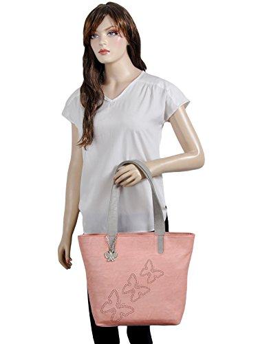 Butterflies Women's Handbag (Peach) (BNS 0589PCH)