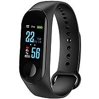 BATHRINS Reloj Inteligente,Pulsera de Fitness Presión Arterial Oxígeno Monitor de frecuencia cardíaca Pulsera Inteligente de rastreador a Prueba de Agua