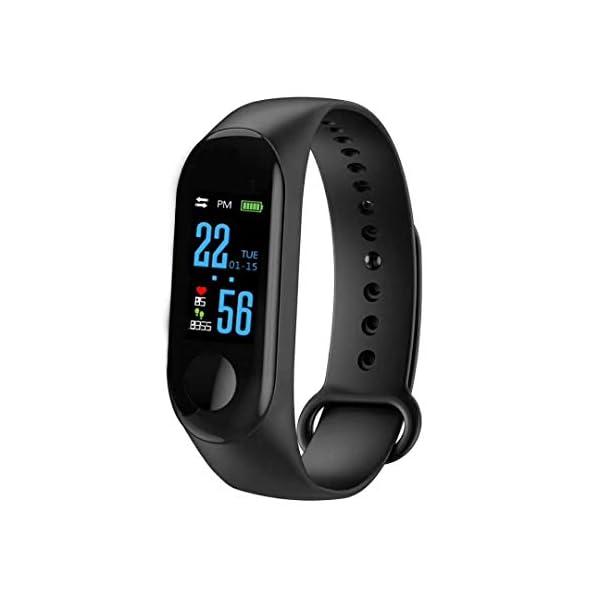 BATHRINS Pulsera Inteligente de Seguimiento de Fitness, M3 IPS, Pantalla Impermeable IP68 Pulsera de Actividad con Monitor de presión Arterial de precisión HR para Android iOS 1