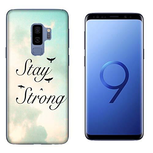 Generico Cover Samsung Galaxy S9 Plus | S9+ Frasi Profonde e Personali Sii Forte/Custodia Stampa Anche sui Lati/Case Anticaduta Antiscivolo AntiGraffio Antiurto Protettiva Rigida