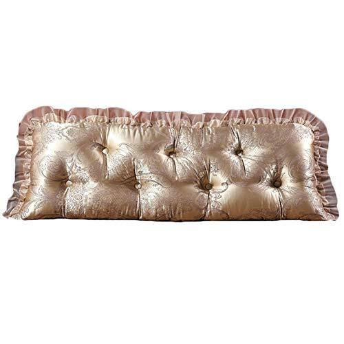 KKCF-Kopfteilkissen Rückenlehne Voll Jacquard Verschleißfest Abnehmbare Jacke Zuhause Satin,6 Farben,5 Größen (Farbe : Metallic, größe : 120cm) - Jacken Metallic Jacquard Jacke