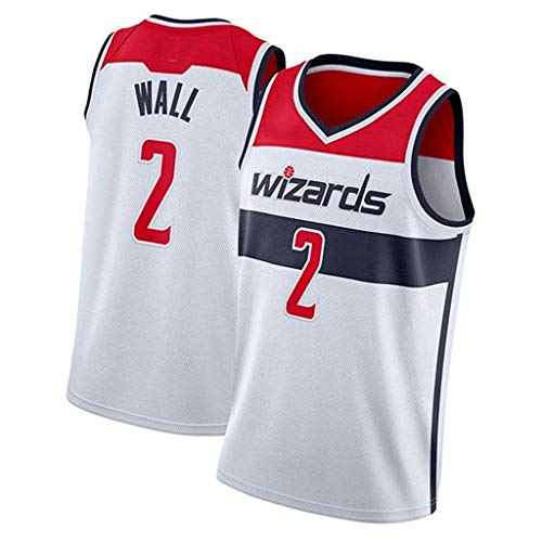 Herren Basketball-Trikot - John Wall # 2 Washington Wizards Basketball-T-Shirt, Sportbekleidung, ärmellos, V-Ausschnitt, Familie (S-XXL) M 4