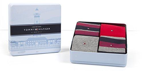 Tommy Hilfiger 4 Paar Herren Socken Limited Edition Cabin Box in Edler Geschenkbox - Tommy original - Gr. 43-46