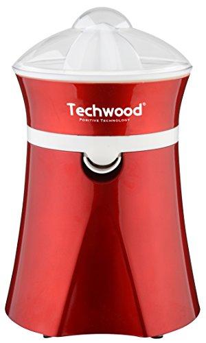Techwood TPF-25 - Exprimidor eléctrico, 20 W, color rojo