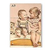 Sunnywall Persönliches Holz-Bild mit Fotodruck Text | Ideal als Geschenk | Ihr eigenes Foto A4 | A3 (A3, Naturbelassen)