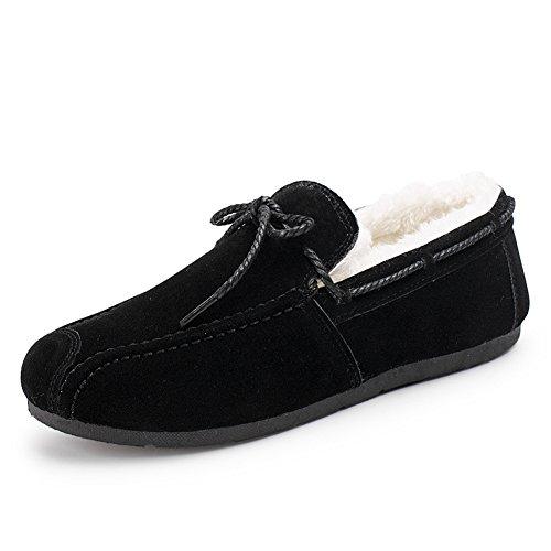 Chaussures Unisex Adult Pois moitié plat Décontractéee chaussures hiver de marche Noir