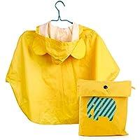 Niños chaqueta impermeable infantil del poncho del impermeable a caballo dibujos animados de moda del impermeable lindo Capa poncho de lluvia for los niños de la chaqueta (color: amarillo, tamaño: XL)