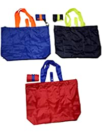 Dfo Grocery/Tote Bag/Side Bag 150 Blue Dark Green Red Colour Set Of 3 Bags