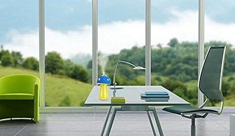 Yiwa Mini USB Pilz Lampe Luftbefeuchter Nebel Zerstäuber Diffusor für Haus, Büro, Reisen und überall, Geschenk Paket Blau