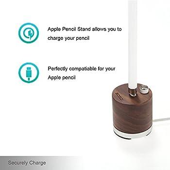 Samdi Holz Mini Ladegerät & Halterapple Pencil Charing Dock Stand Für Apple Ipad Pro Bleistift Ladegerät Dock Stehen (Schwarze Walnuss) 3