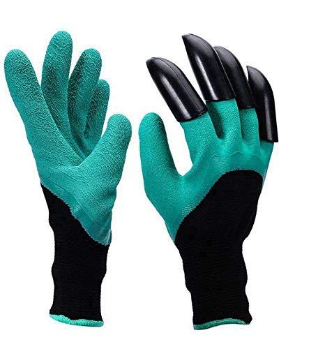 Garten Genie Handschuhe Abs Plastik Klauen Gartenhandschuhe Zum Pflanzen, Graben Und Weiden, Pflanz-Und Arbeitshandschuhe Gartenarbeit Handschuhe Mit Graben Klaue (2 Paar)