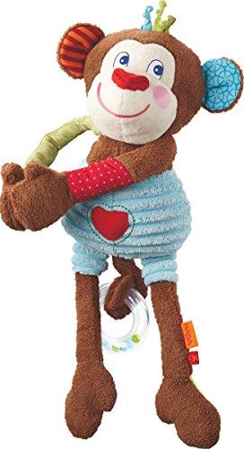 HABA 302993 - Spielfigur Affe Lino | Kuscheltier mit vielen Spieleffekten und magnetischen Händen zum Festklammern | Baby-Spielzeug ab 6 Monaten