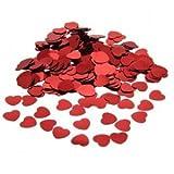 Amscan - Coriandoli a forma di cuore, medi, colore: rosso