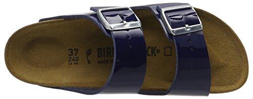 Birkenstock Damen Arizona Birko-Flor Pantoletten Blau (Dress Blue Lack)