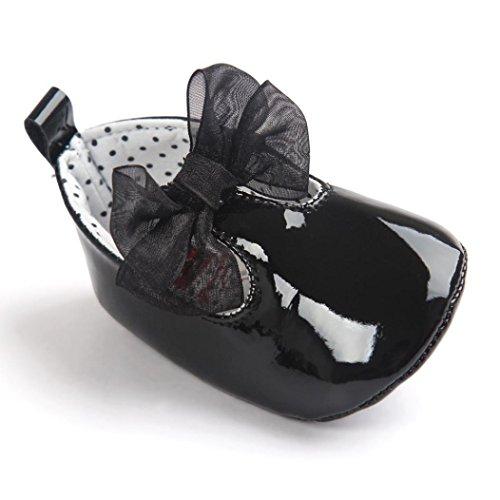 Schuhe Bowknot PU Schuhe Sneaker M盲dchen Leder Kleinkind zahuihuiM Niedlich 锟� Baby 锟� Baby Soft Schwarz Sole zwvS0
