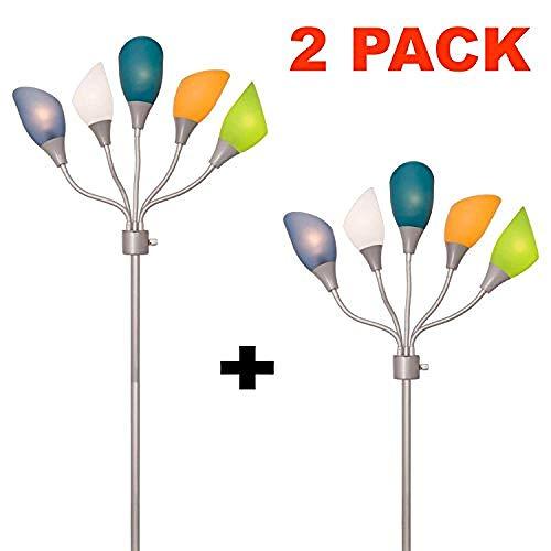 Stehleuchte Von Light Multi Head Standing Lamp Mit 5 Verstellbaren Weißen Acryl-Leselampen - Lampen Für Wohnzimmer -