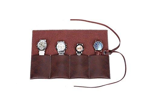 Handmade durevole Suedeleather Traveler' s Watch Storage roll borsa...