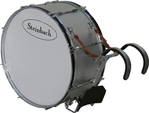 Steinbach SMBD-2712-H Alu Marching Bassdrum 27, 5 Zoll x 12 Zoll mit Tragegestell updn