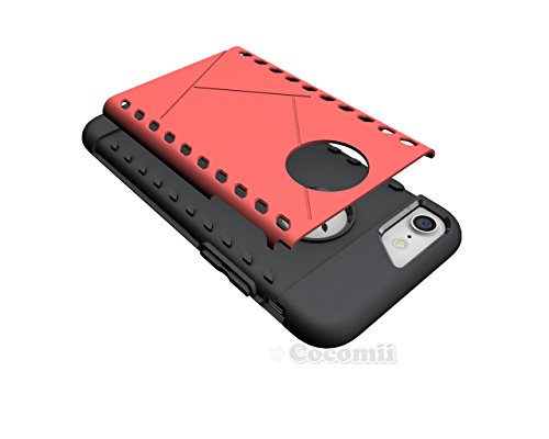 iPhone 8 / iPhone 7 Hülle, Cocomii Paladin Armor NEW [Heavy Duty] Premium Tactical Grip Slim Fit Shockproof Hard Bumper Shell [Military Defender] Full Body Dual Layer Rugged Cover Case Schutzhülle App Red