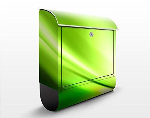 Design Briefkasten Green Valley   Grün Abstrakt Frisch Sommer Welle, Postkasten mit Zeitungsrolle, Wandbriefkasten, Mailbox, Letterbox, Briefkastenanlage, Dekorfolie