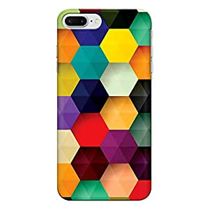 CrazyInk Premium 3D Back Cover for Apple Iphone 7 Plus - MULTICOLOR HEXAGON