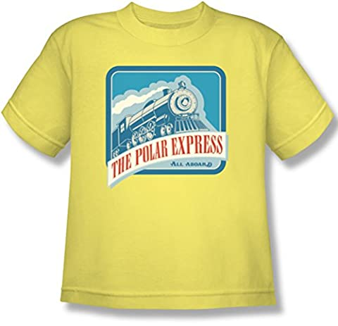 Polar Express - Youth All Aboard T-Shirt, X-Large, Banana