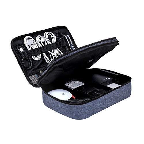 Bagsmart organizzatore elettronica universale per accessori elettronici custodia da viaggio impermeabili portatile per cavi usb, ipad, power bank e disco rigido