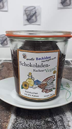 Schokoladen-Kuchen im Glas, vegan