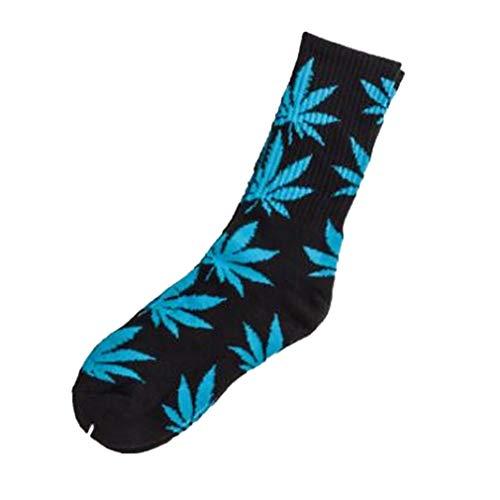 Marihuana Gedruckt Baumwolle Hohe Socken Unisex All Seasons Weed Leaf Socken One Size Ahornblatt Socken für Athletic Sports Women Mens von TheBigThumb