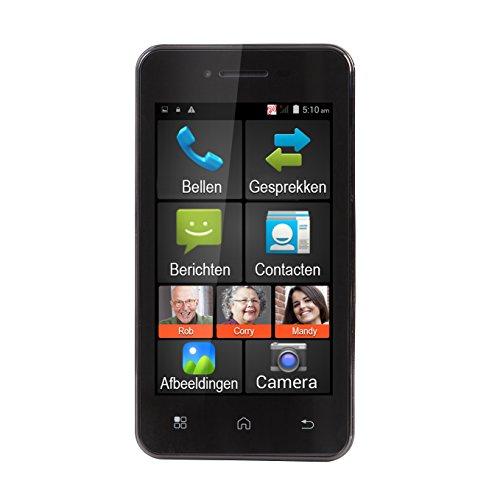 Telefon Notfall Schnurloses (Fysic FMA-5000ZT Android Smartphone, 512MB DDR1, 1,2Ghz Prozessor, 5MP Hauptkamera, SOS-Notfallfunktion mit GPS-Ortung schwarz)
