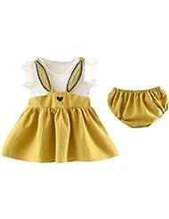 Stirnband Outfits Sets Hosen Sasstaids S/äuglinge Set Kleinkind Kinder Baby M/ädchen Gestreifte R/üschen Tops T Shirt