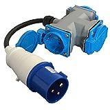 DKB CEE Steckdosenverteiler Camping Stromverteiler 3 x 16A 250 V IP44