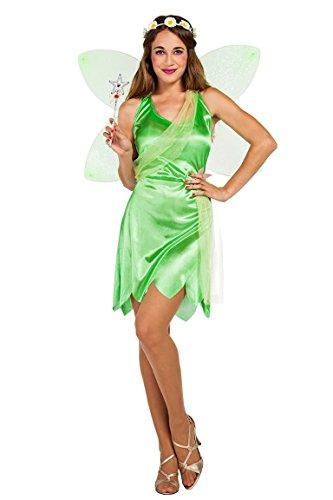 Imagen de disfraz de hada campanilla verde para mujer
