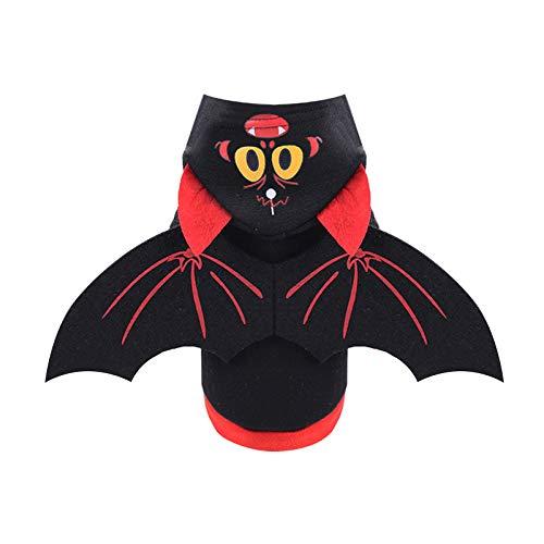 Aus Kostüm Bürobedarf - JIAJU Sweatshirt für Haustiere, mit Kapuze, Batman-Kostüm, Jacke, Winter-Sweatshirt, warmer Pullover für Hunde und Katzen Größe S S