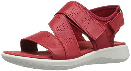 Ecco Soft 5 Sandal, Sandales Bout Ouvert Femme Rot (51789TOMATO/TOMATO)