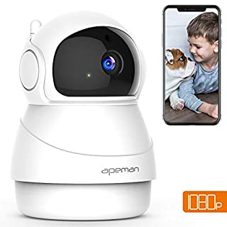 [NEW VERSION] APEMAN WiFi Camera 1080P IP Pet Camera Baby Monitor Wireless Indoor Surveillance Home Security Camera 2-Way Audio/Motion Detection/Night Vision/Pan/Tilt/Zoom