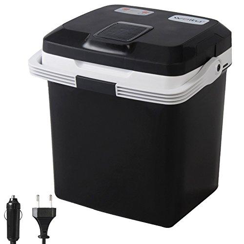 WOLTU Kühlbox, Thermo-Elektrische Mini-Kühlschrank, 26L Isolierbox warmhalten oder kühlen, 12V&220V, für Auto und Camping