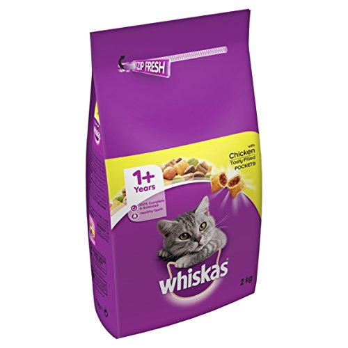 Whiskas 1+ Cat Complete Dry with Chicken, 2 kg - Pack of 4