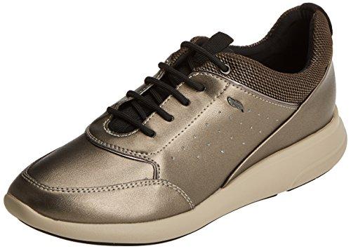 Geox d ophira b, scarpe da ginnastica basse donna, marrone (cream), 38 eu