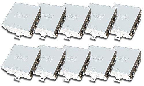 Boîte de raccordement - Boîte de dérivation IP55 85 x 85 x 37 mm pour Pièces humides 20 Stück FR-Abzweigdose leer