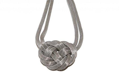LUX Zubehör Mesh geflochtenen Knoten Texturierte Halskette (Metall-mesh-bogen)
