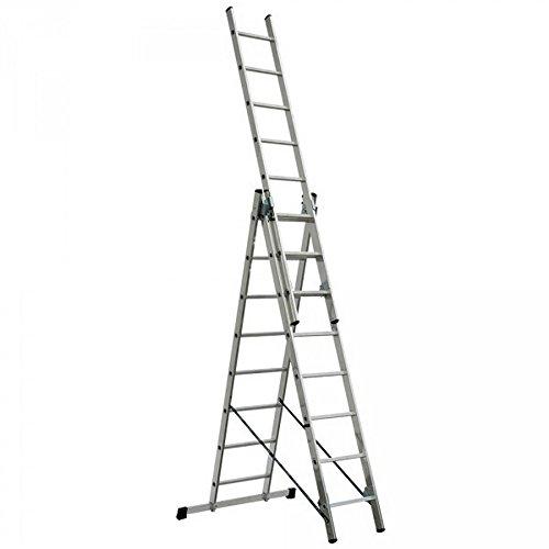 Aluminium Vielzweckleiter mit 3 x 8 Sprossen, erreichbare Arbeitshöhe 5650 mm, Gewicht 11 kg (Vielzweckleiter)