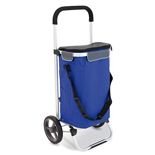 bremermann Einkaufstrolley LEESTE faltbar (blau)