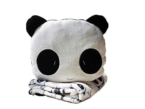 Preisvergleich Produktbild niceEshop(TM) Süß Panda Samtplüsch Coral Fleece Blanket Akzente Set (Schwarz,  Weiß)