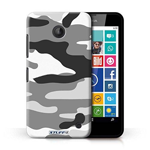 Kobalt® Imprimé Etui / Coque pour Nokia Lumia 635 / Blanc 2 conception / Série Armée/Camouflage Blanc 2