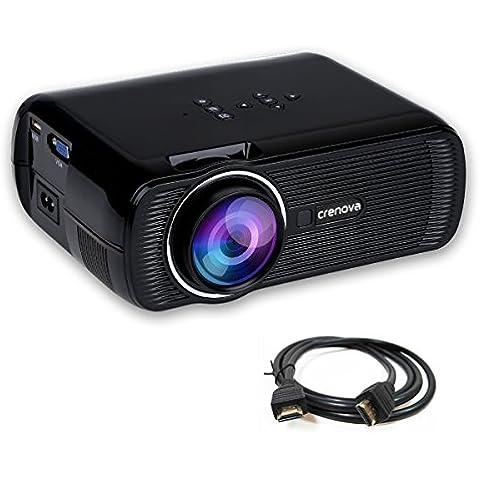 Crenova® XPE460 LED Mini Proiettore Portatile 800x480 Multimediale Cinema Teatro