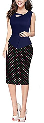 SunIfSnow - Robe spécial grossesse - Moulante - À Pois - Sans Manche - Femme - multicolore - XXXXL